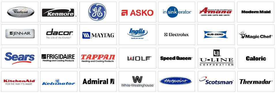 We repair all major brands of appliance